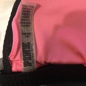 PINK Victoria's Secret Swim - VS PINK black ribbed lace up bikini NWT